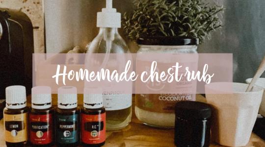 homemade chest rub